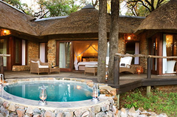 Each suite at Dulini Lodge has its own plunge pool.